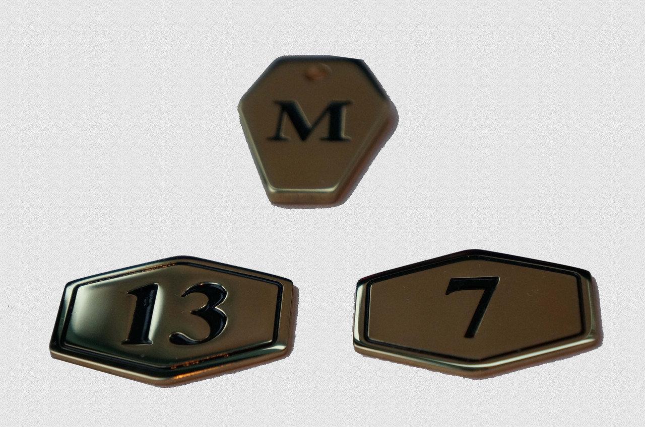 Номерок на пластине из латуни или нержавеющей стали, арт: 20-002