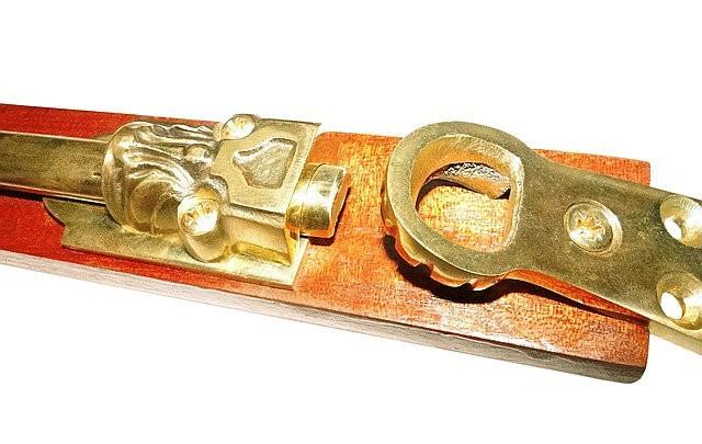 Шпингалет дверной накладной, арт: 05-002