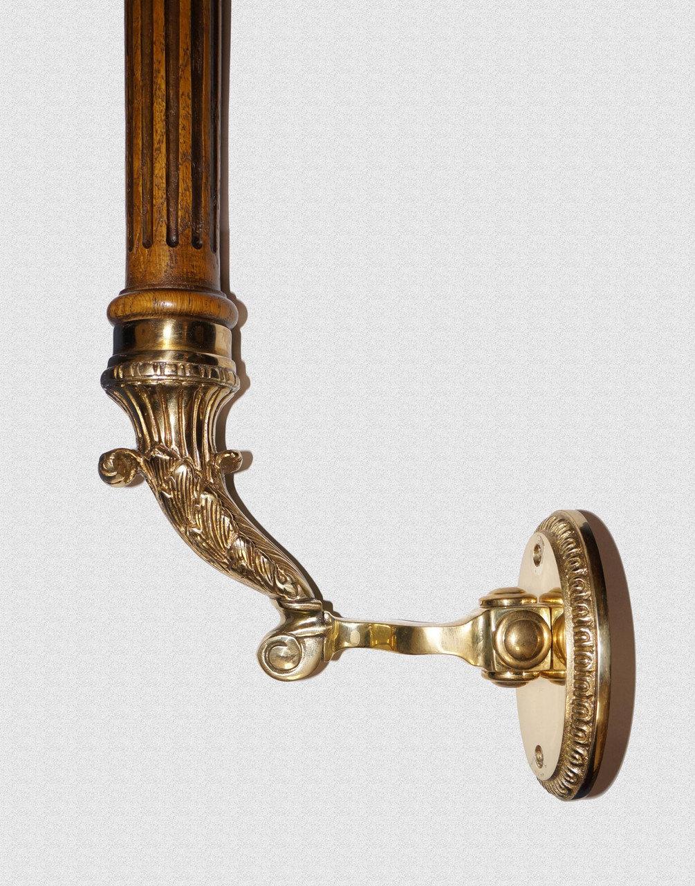 Ручка опорная Александровская с каннелюрами на боковых кронштейнах, арт: 01-002-бок