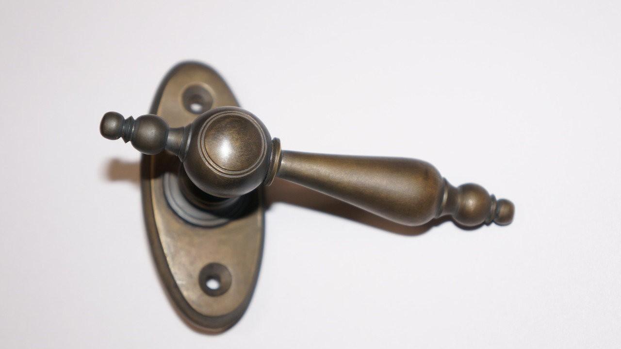 Ручка оконная Капля малая в патине, арт: 03-025-П