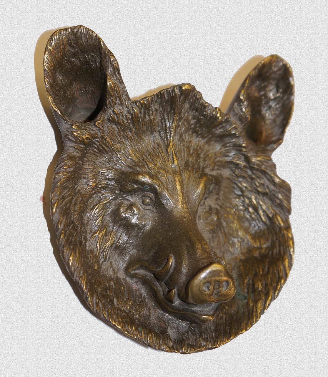 """Пепельница латунная """"Медведь"""", арт: 19-016"""