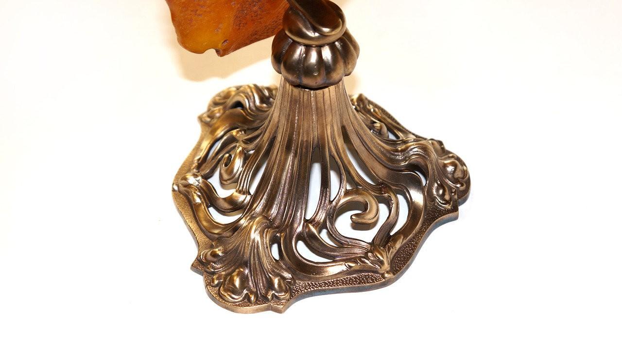 Декоративная подставка-скульптура из янтаря, арт: 19-018