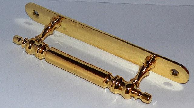Ручка оконная Токарная средняя на пластине, арт: 03-015