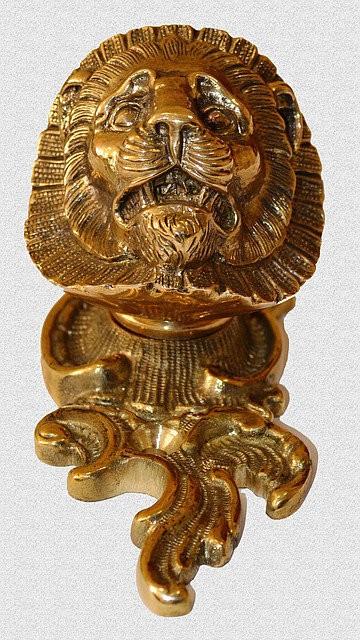 Каминная ручка Лев, арт: 09-016