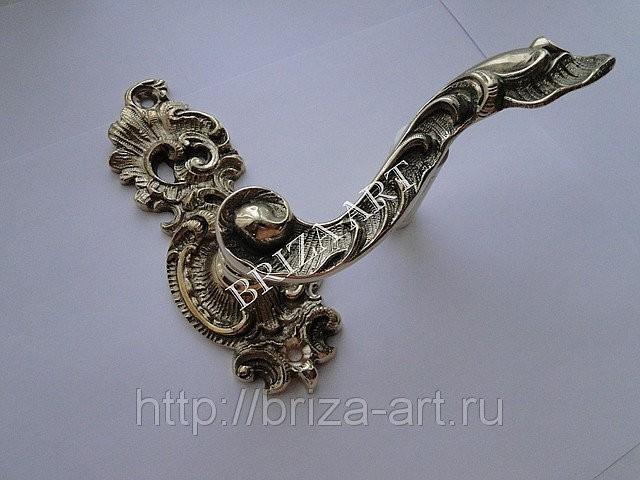 Межкомнатная дверная ручка Дворцовая на модельном основании, арт: 02-002