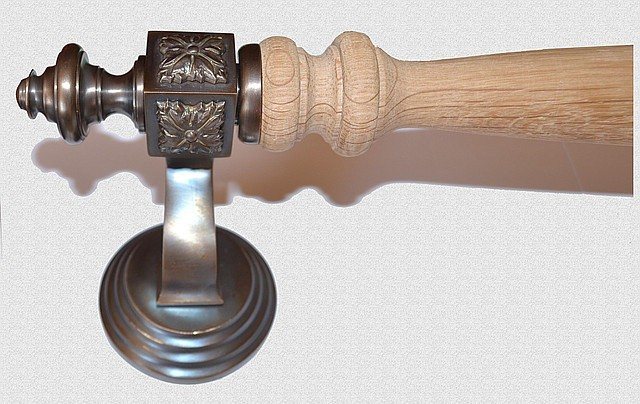 Ручка дверная опорная Куб Классический в медной патине, арт: 01-003-МД