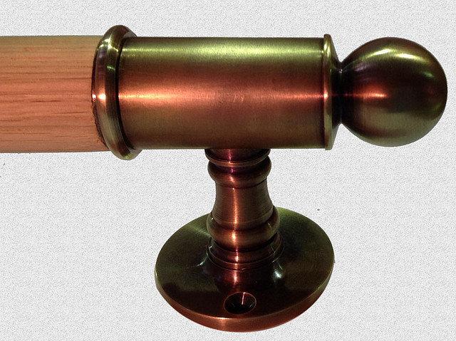 Дверная ручка Опорная с каннелюрами, арт: 01-004