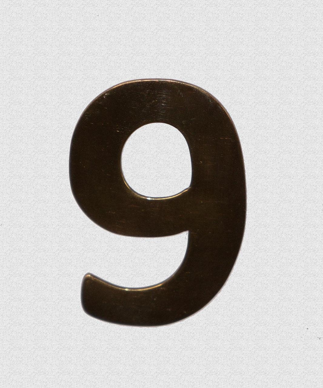 Номерок на дверь латунный, арт: 20-001