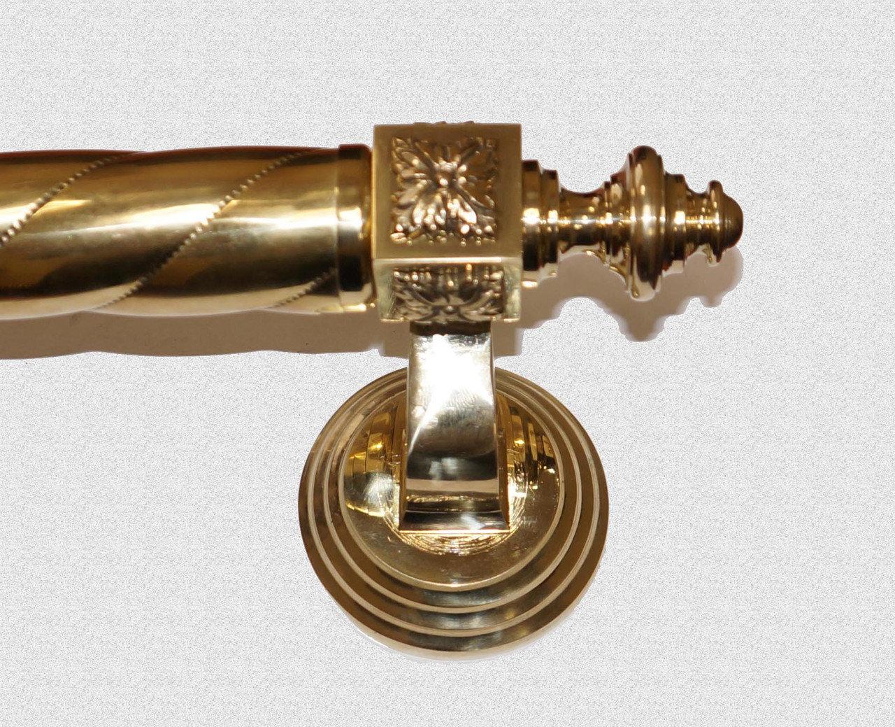 Ручка дверная Куб Классический с витой державкой, арт: 01-003-ВД