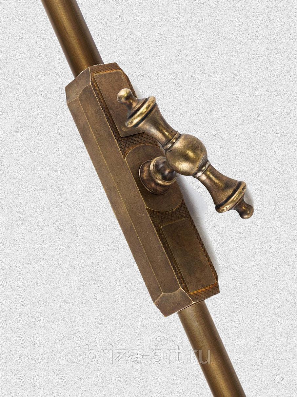 Кремона тип 1 действующая и ложная (шпингалет раздвижной), арт: 05-010-тип1
