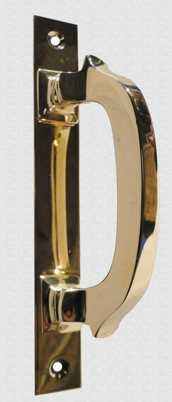Ручка оконная на пластине скоба в патине, арт: 03-011