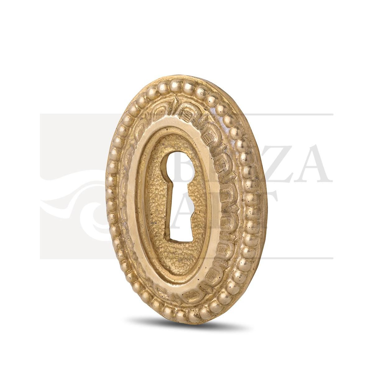 Ключевина накладная овальная с горохом, арт: 07-001-07