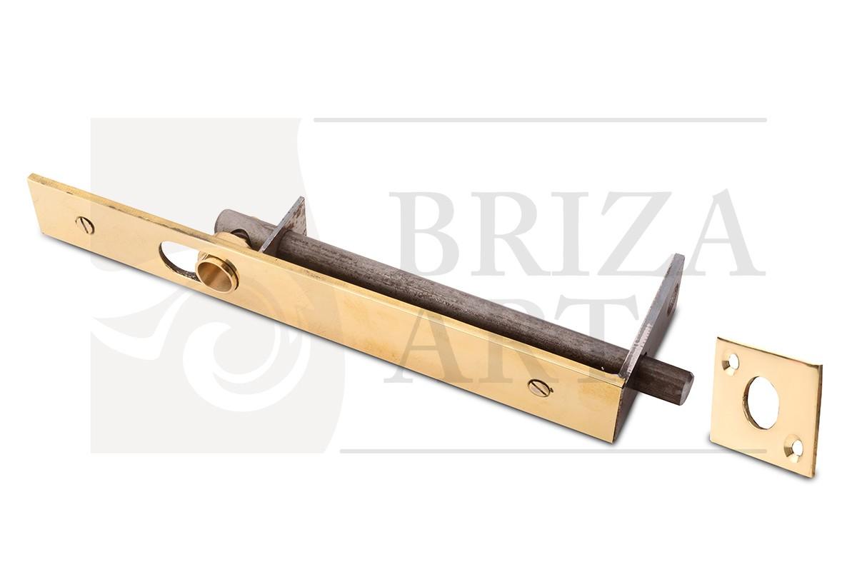 Шпингалет дверной врезной облатуненный 250мм, арт: 05-001