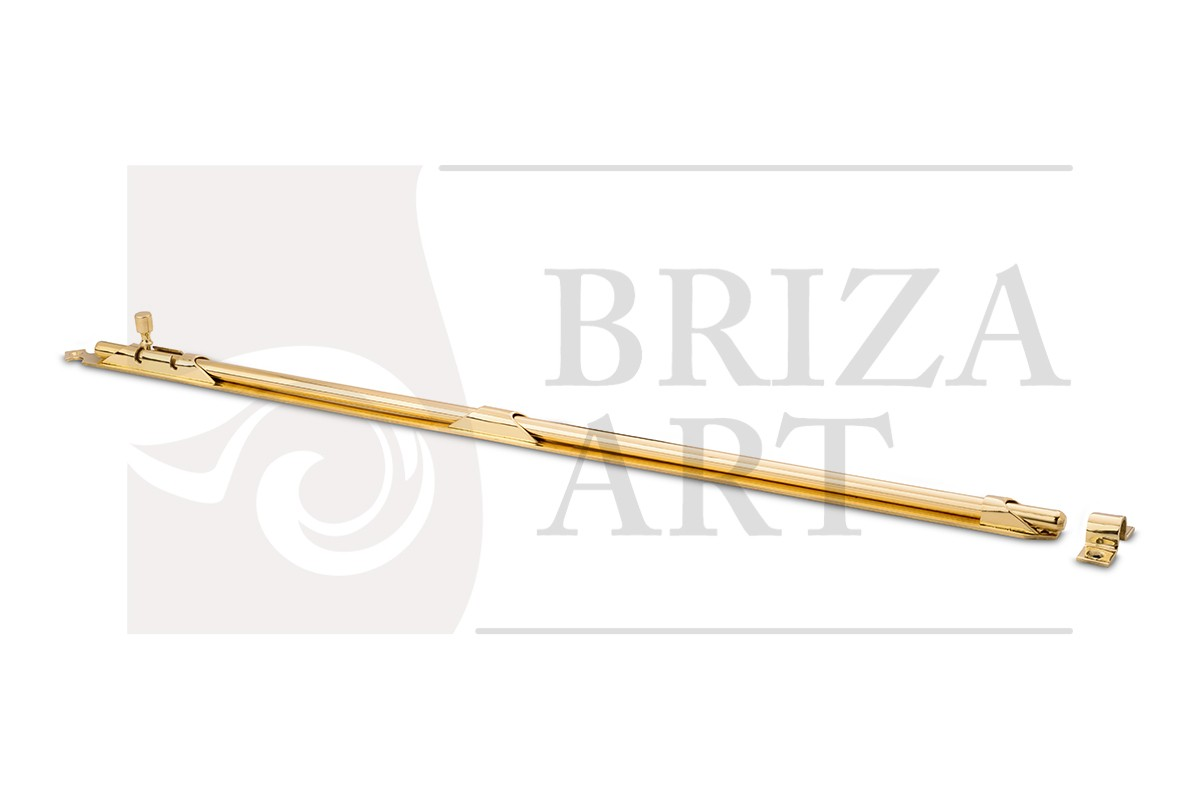 Шпингалет накладной 600мм с круглым штоком, арт: 05-006