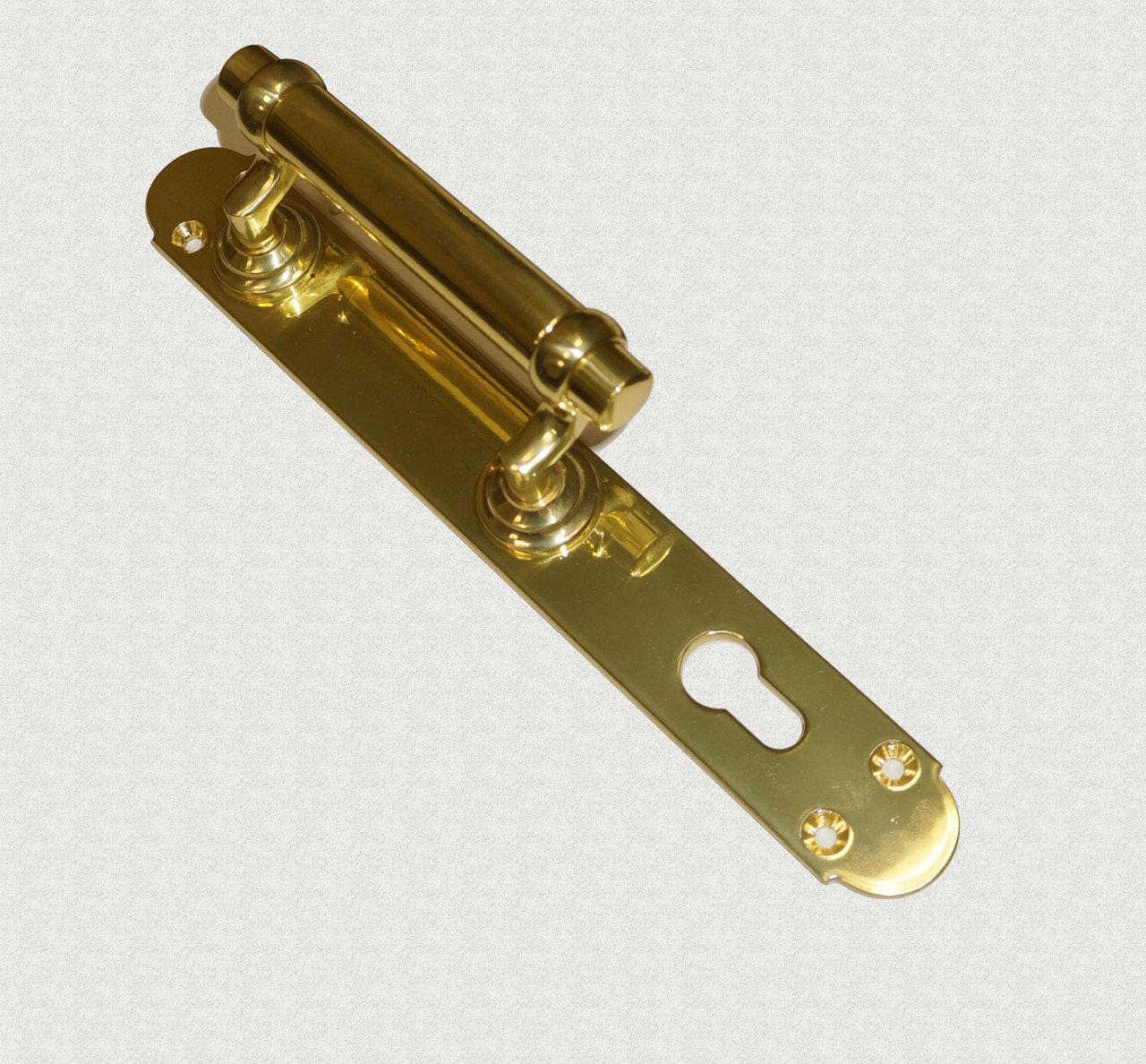 Дверная ручка Латунная малая с цилиндрической державкой, арт: 01-022