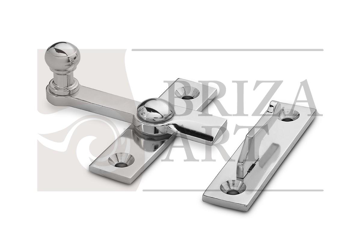 завертка форточная тип1 - латунь, никель, арт: б/а