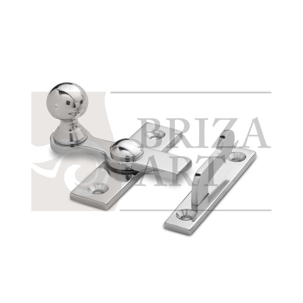 завертка форточная тип2 - латунь, никель, арт: б/а
