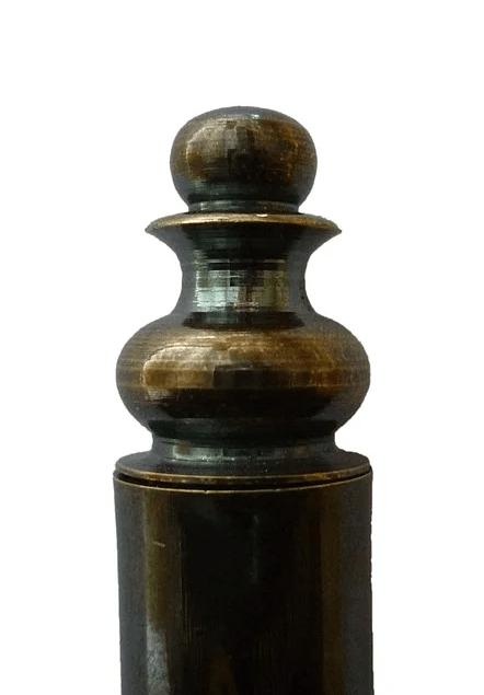Темная патина (бронза) полировка