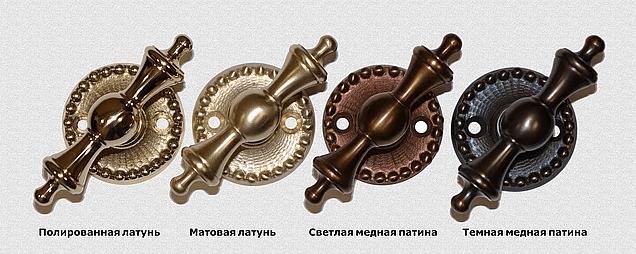 Пример покрытий на каминных ручках